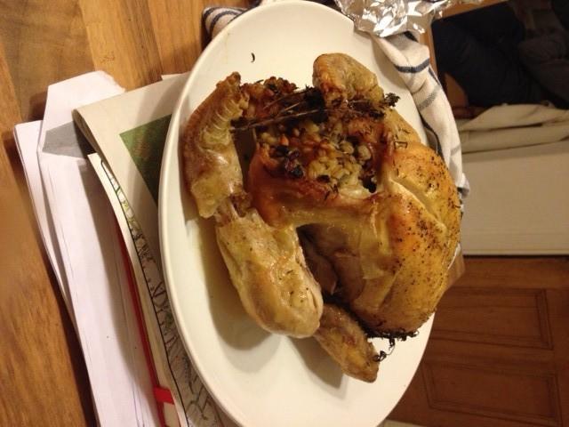 barley stuffed chicken
