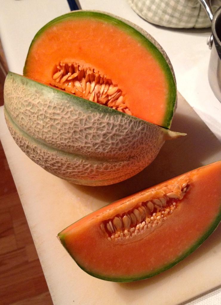 cantaloupe melon, full of betacarotene
